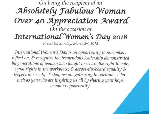 Absolutely Fabulous Woman Appreciation Award