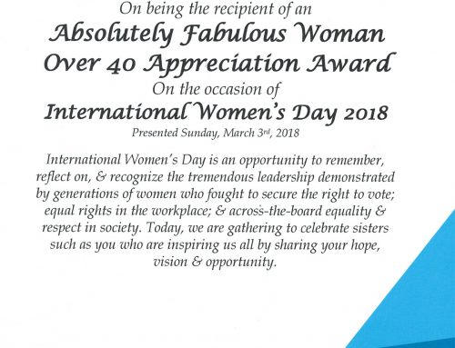 Absolutely Fabulous Woman Appreciation Award